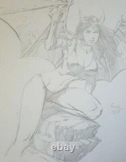 Purgatori Lady Death Chaos Comics David Finch Original Art Sketch 10 x 12