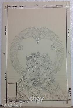 RARE! 1981 Original Art ARAK SON OF THUNDER #1 ERNIE COLON Unused COVER ART
