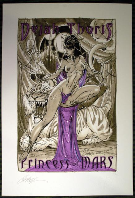 Rare J Scott Campbell Hand Signed Dejah Thoris #1 Ltd Edition Art Print 2009