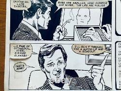 RARE James Bond Marvel original comic art page by Howard Chaykin from 1981