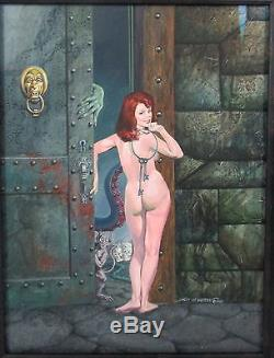RARE ORIGINAL COMIC BOOK ART 1990 GRAY MORROW PUBLISHED With AMORA VISIONARY BOOK