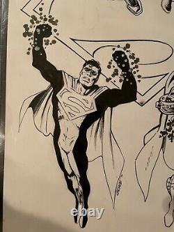 REIGN OF THE SUPERMEN Original Superman Art! 11x17 Signed By The Creators Rare