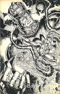 RON WILLIAMS ORIGINAL 1996 2-PAGE SPREAD 11x17 (Signed) (X-X) MAN /HOT FEM