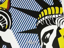 ROY LICHTENSTEIN POSTER I LOVE LIBERTY COMIC POP ART PLAKAT in MINT