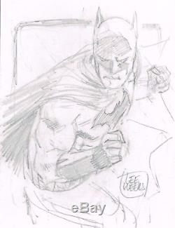 Rare Batman Pencil Sketch Original Art by LEE WEEKS