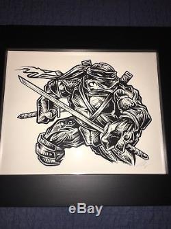 Rhys Cooper Mondo original art Teenage Mutant Ninja Turtles TMNT Art Leonardo