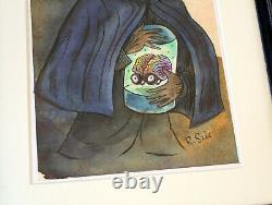 Richard Sala Original Art Professor Sovac with a Brain in a Vat