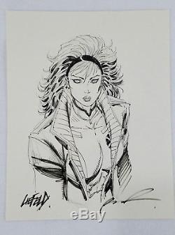Rob Liefeld Original Art 11x14 Sketch Rogue X-men Drawing Eccc Marvel Avengers