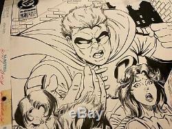 Robin #12 Cover by Tom Grummett Tim Drake DEC. 1994 Batman Original comic art