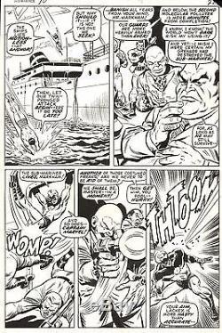 SAL BUSCEMA SUB-MARINER #30 Original Marvel Comic Silver Age Art 1970