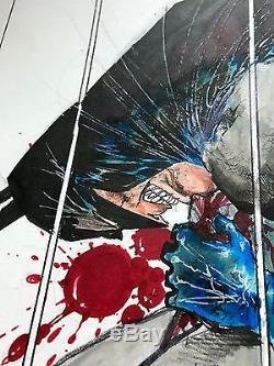 Sam Kieth Batman Original Artwork Splash Page Art DC Comics Maxx Image Marvel