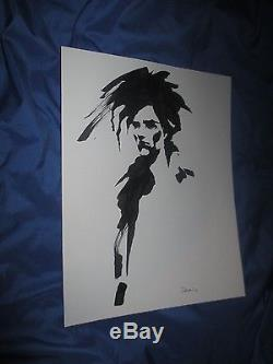 SANDMAN Original Brushed Inked Art Sketch by Colleen Doran DC Comics/Vertigo