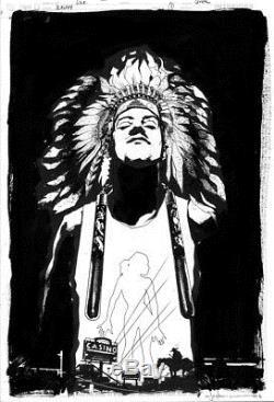 SCALPED 1 Original Published Cover Art by JOCK Vertigo Comics Aaron Guera WGN