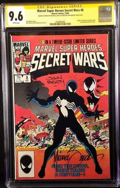 Secret Wars #8 Cgc Ss 9.6 Mike Zeck Beatty Original Art Sketch Spiderman Venom
