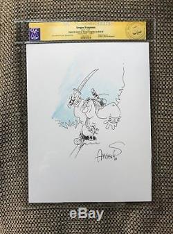SERGIO ARAGONES original art GROO the WANDERER sketch CGC CERTIFIED mad magazine
