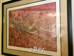 SIGNED MOEBIUS/DARROW City Of Fire Subway LTD EDITION 93/100 RARE 34 X 27