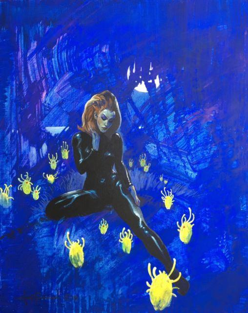 Space Girl On Star Trip! Primo Sf Fantasy Art Painting By Mike Hoffman