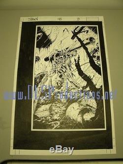 SPAWN #48 Page 10 Original Art TONY DANIEL- BATMAN TENTH FLASH TEEN TITANS HOT