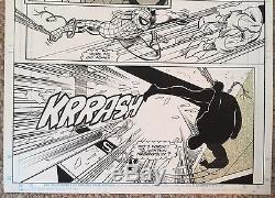 SPIDER-MAN Infinity War crossover Original Art MARVEL, Vol 1 #24 Page 9 1992