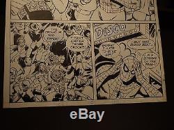 SPIDEY SUPER STORIES Original Art #46 pg 3 SPIDER-MAN in a DISCO POP ART