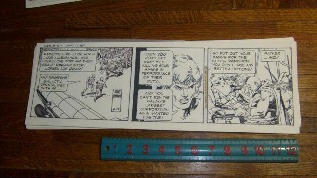 Star Hawks Original Daily Strip Art, June 17 1980, Gil Kane, Archie Goodwin