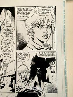 SUPERMAN-ALIENS original art by Dan Jurgens and Kevin Nowlan! 1995