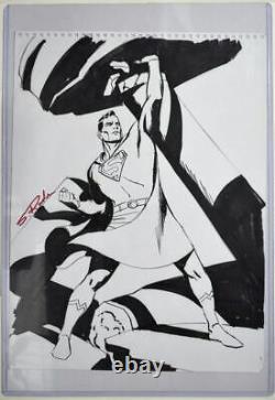 SUPERMAN Original Pencil & Ink Artwork by Artist Steve Rude Signed