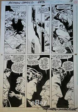 SUPERMAN in ACTION COMICS 683 page 18 Original Art by Jackson Guice