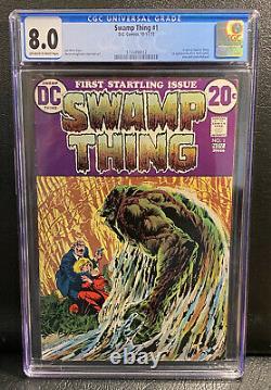 SWAMP THING #1 (1972) CGC 8.0 Origin Swamp Thing, Bernie Wrightson art