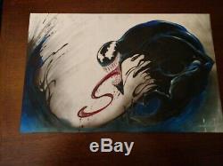 Sam Kieth Venom Pin Up Painted Commisison Original Art Signed