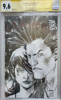 Sandman Overture #1 CGC 9.6 Signed and Sketch by Jim Lee
