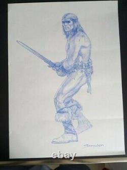 Sanjulian Conan Commission ORIGINAL ART ORIGINALZEICHNUNG