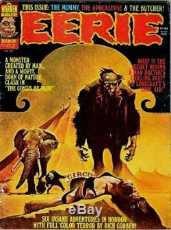 Sanjulian, Manuel Eerie #62 Large Painted Cover Art (1975)