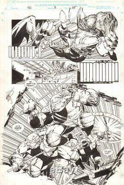 Savage Dragon #2 p. 15 Teenage Mutant Ninja Turtles Action'93 art by Erik Larsen