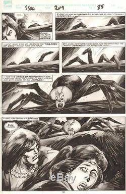 Savage Sword of Conan #209 p. 35 Giant Spider 1993 art by John Buscema