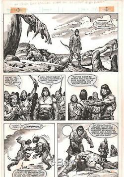 Savage Sword of Conan #87 p. 34 Conan Sucker Punched 1983 art by John Buscema