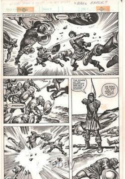 Savage Sword of Conan #87 p. 39 Darius Action 1983 art by John Buscema