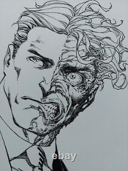 Scott Williams Two Face 2 Face Original Art Sketch 9x12 Jim Lee