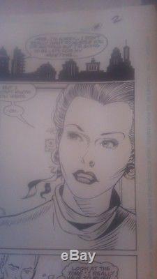 Secret Origins #46 pg. 2 Curt Swan 1989 original art Flash Justice League signed