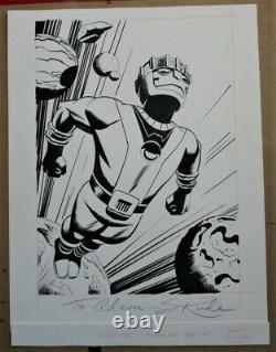 Sentinel X-Men original comic book card art Steve Rude