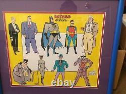 Sheldon Moldoff Original Art Batman The Animated Series TAS DC 19 X 22 FRAMED