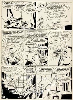 Shuster Studio GOLDEN AGE SUPERMAN PG 10 Original Art (1944)