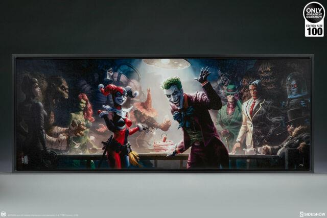 Sideshow The Rogues Gallery Fine Art Print Wrapped Framed Canvas Dc Joker Batman