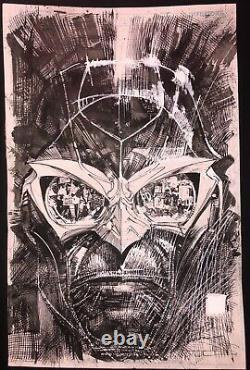 Sienkiewicz Cowan Nighthawk #2 (Vol. 2) ORIGINAL ART COVER Marvel Comic