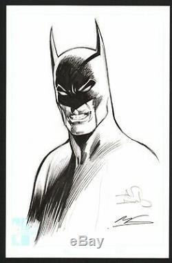 Signed Alan Davis & Mark Farmer Original DC Comics Art Sketch Batman Dark Knight