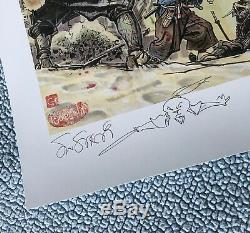 Signed KIM JUNG GI + STAN SAKAI USAGI YOJIMBO ART PRINT /50 original sketch 1 2