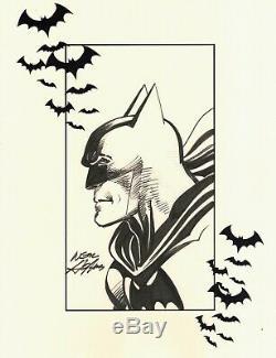 Signed Neal Adams JLA Justice League Original DC Comic Art Sketch Batman