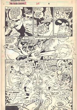 Silver Surfer #39 p. 11 F4 & Galactus App 1990 Signed art by James Sherman