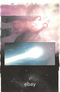 Silver Surfer Requiem #4 p. 19 Galactus Turns Surfer into a Star by Esad Ribic