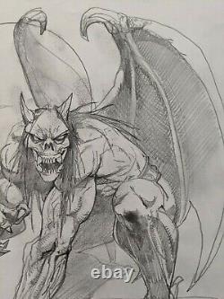Simon Bisley Original Gargoyle Winged Demon Sketch 12 14